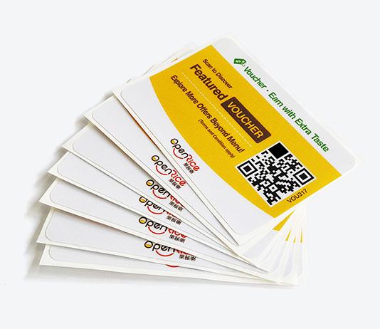 黄色点餐二维码标签3