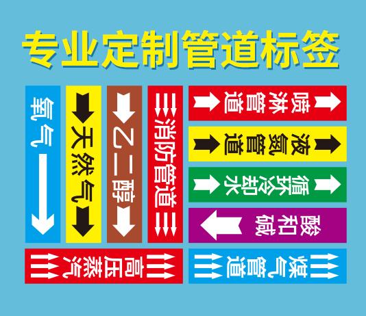 耐高低温化工管道标签定制