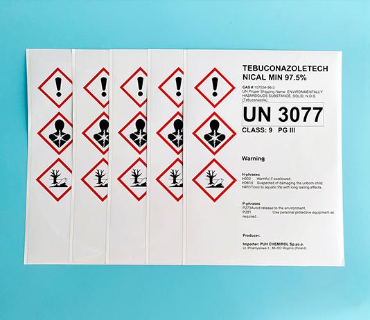 BS5609认证化工危化品运输桶贴